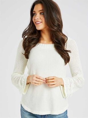Dreamin' in Thermal Fringe Top - Altar'd State