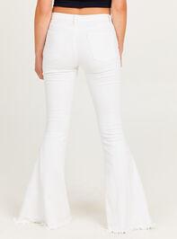 Tennley White Flare Jeans Detail 5 - Altar'd State