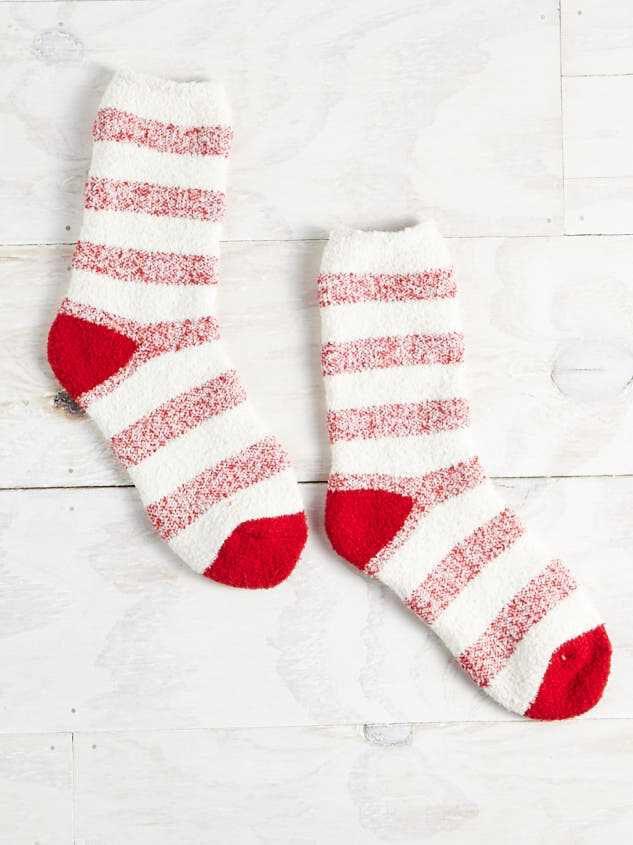 Cozy Striped Socks - Altar'd State
