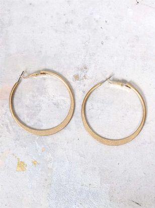 Hammered Hoop Earrings - Altar'd State