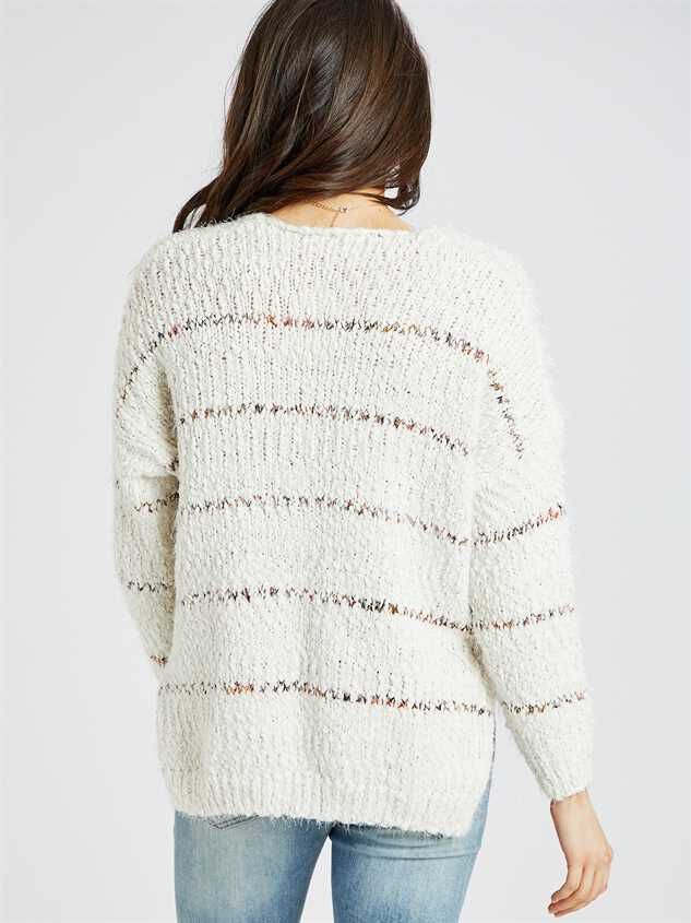 Lovely Lash Spiced Striped Pullover Sweater Detail 3 - Altar'd State
