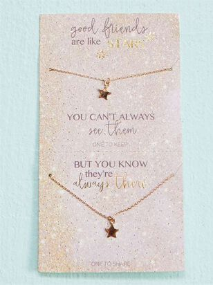 Friends are like Stars Necklace Set - Altar'd State