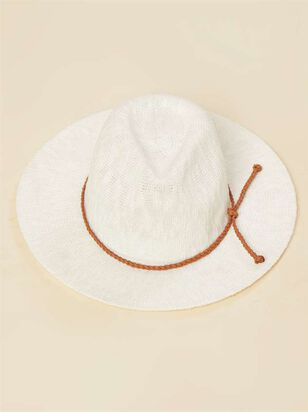Panama Hat - White - Altar'd State