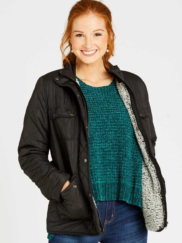 Alpine Quilted Puffer Jacket Detail 2 - Altar'd State