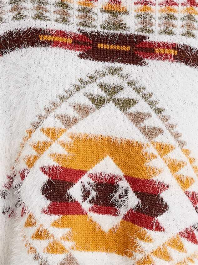 Lovely Lash Tribal Sweater Detail 5 - Altar'd State