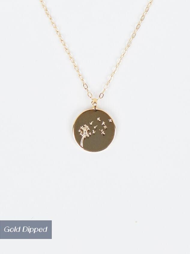 18k Gold Dandelion Coin Necklace - Altar'd State