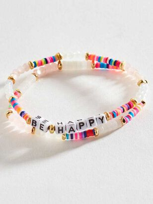 Be Happy Bracelet Set - Altar'd State