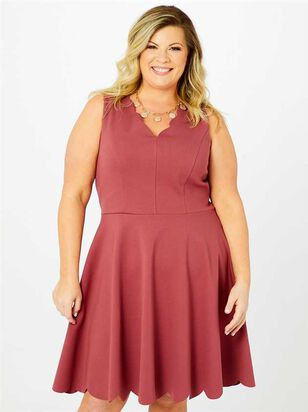 Selah Scallop Dress - Altar'd State
