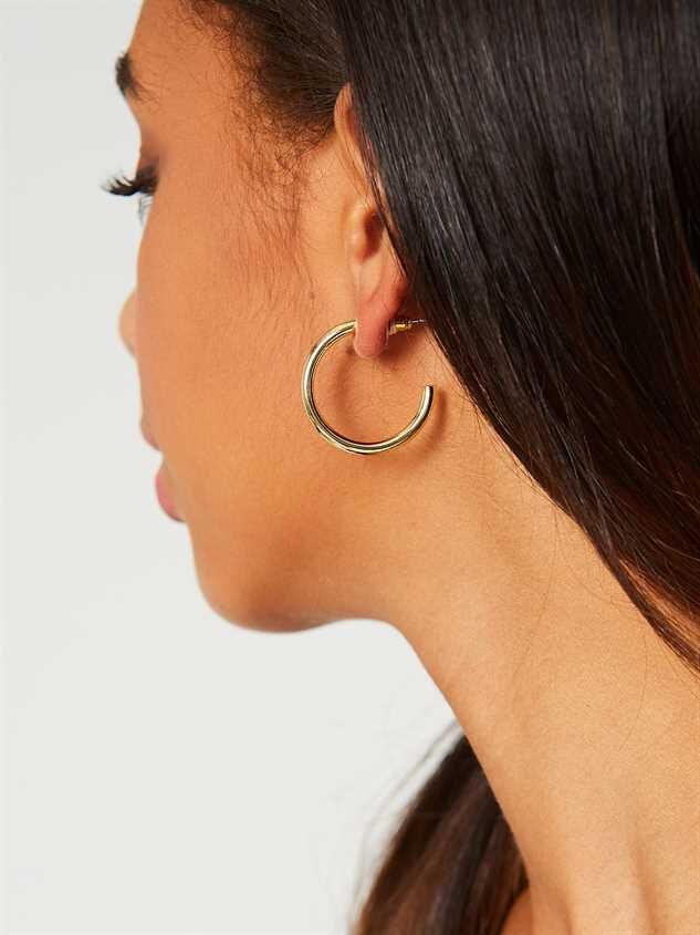 Jilli Hoop Earrings - Gold Detail 3 - Altar'd State