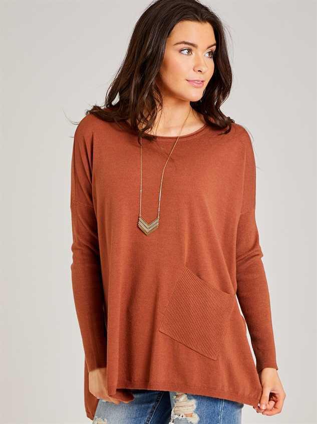 Cozy Comfort Pocket Sweater Detail 3 - Altar'd State