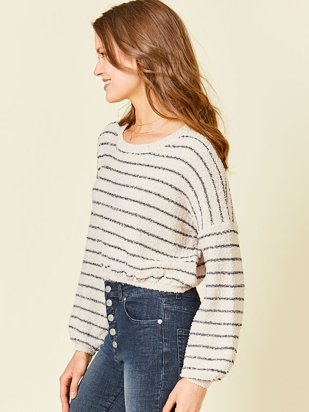 Maci Cropped Sweater Detail 3 - Altar'd State