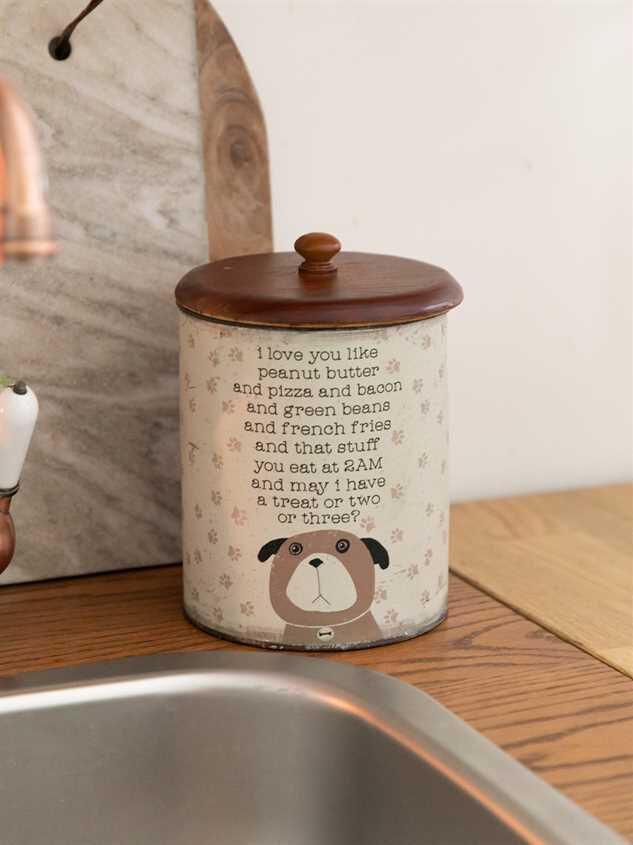 I Love You Like Peanut Butter Dog Treat Jar - Altar'd State