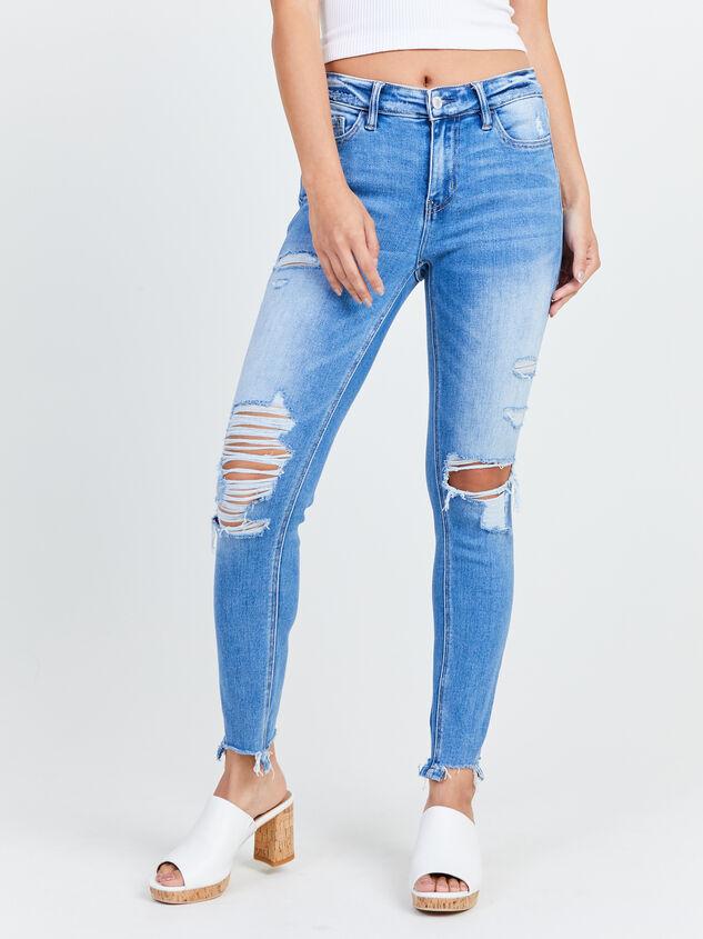 Kaylie Skinny Jeans Detail 2 - Altar'd State