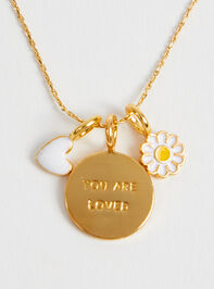 18k Gold You are Loved Charm Detail 2 - Altar'd State