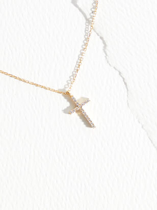The Demi Fine - Adelaida Cross Necklace - Altar'd State