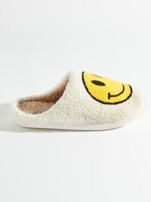 Smiley Face Slippers - Altar'd State