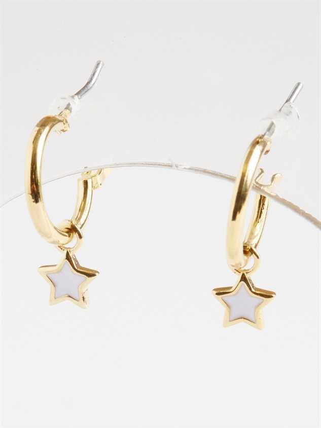Shining Bright Mini-Hoop Earrings Detail 3 - Altar'd State