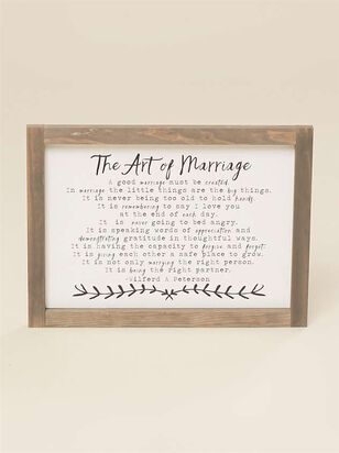 The Art Of Marriage Mini Wall Art - Altar'd State