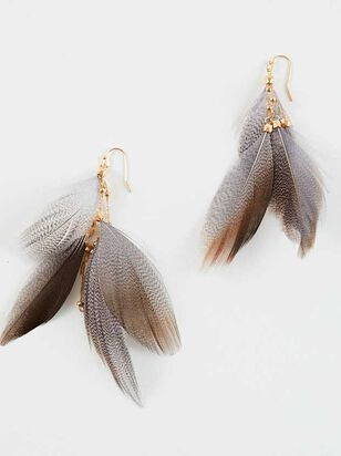 Feather Frenzy Earrings - Altar'd State