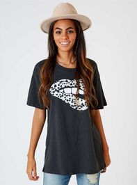 Dalmatian Lips Oversized Top - Altar'd State