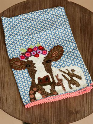 Flower Cow Hand Towel - Altar'd State