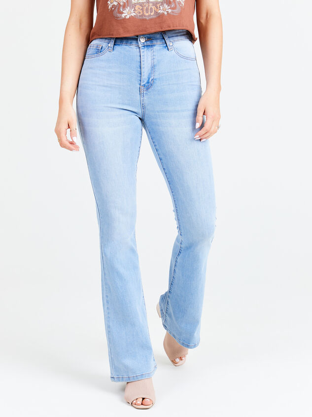 Daisy Waterside Flare Jeans Detail 2 - Altar'd State