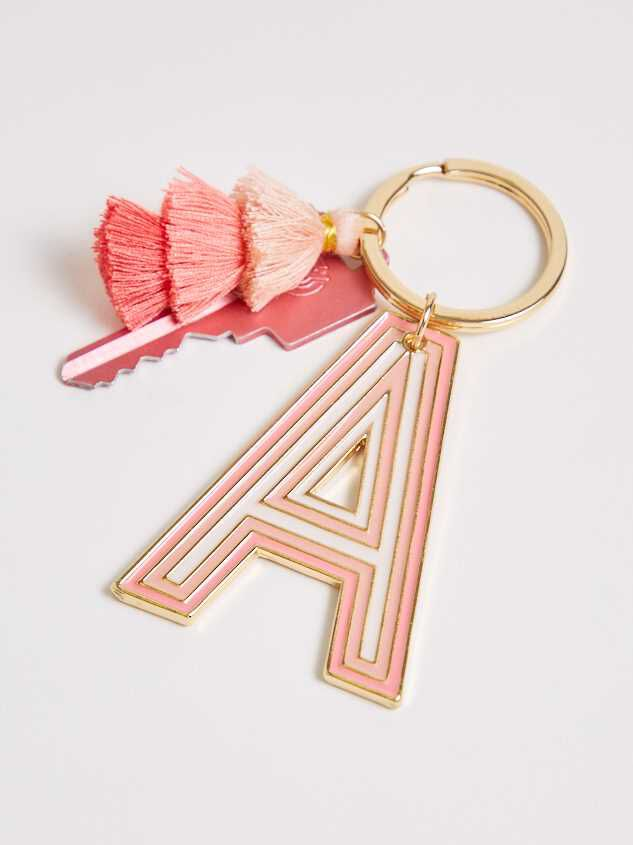 Monogram Pom Keychain - A - Altar'd State