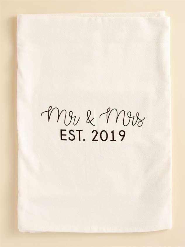 Mr. & Ms. EST. 2019 Hand Towel - Altar'd State
