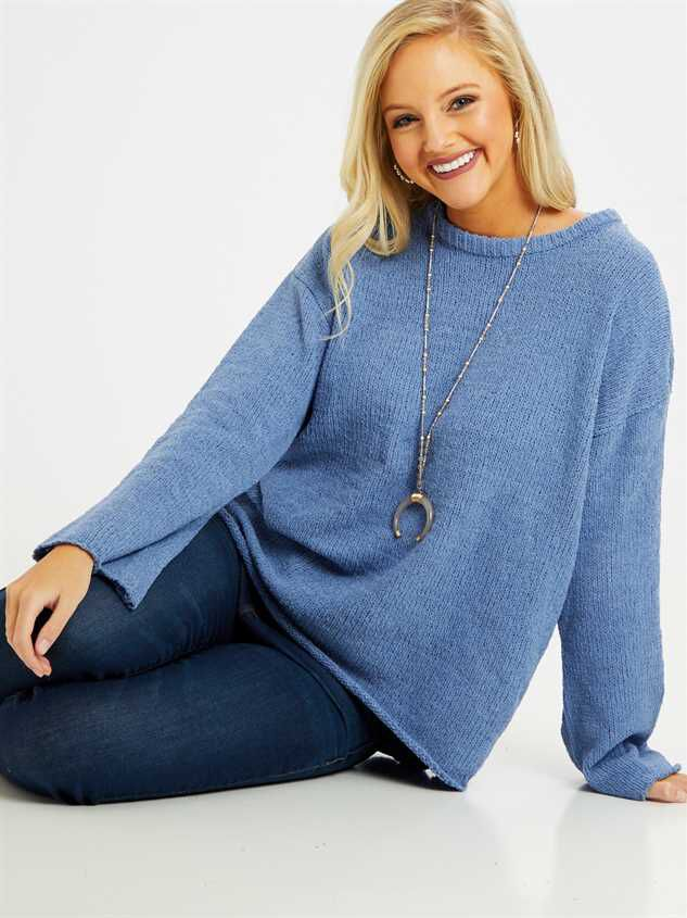 Eversoft Chenille Flare Sleeve Sweater Detail 6 - Altar'd State
