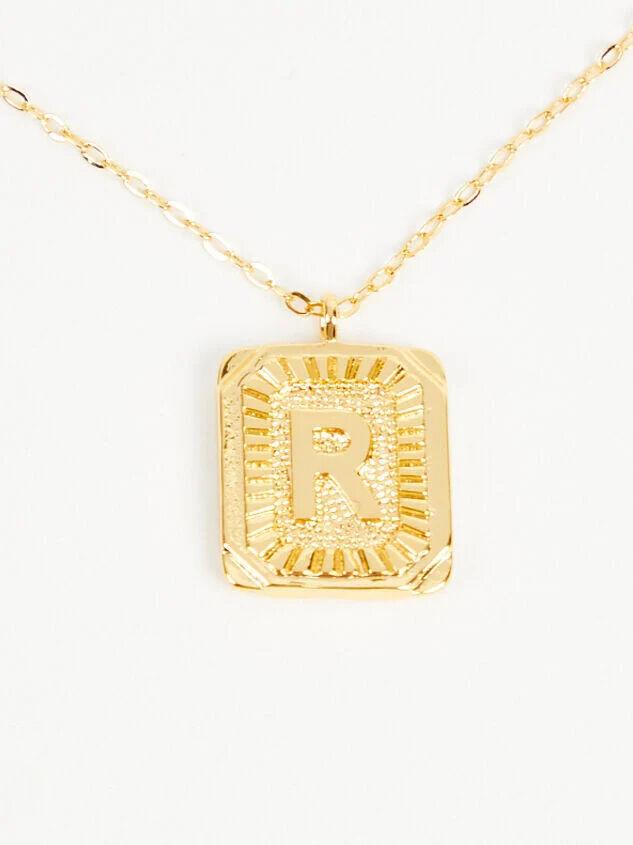 Burst Tag Monogram Necklace - R - Altar'd State