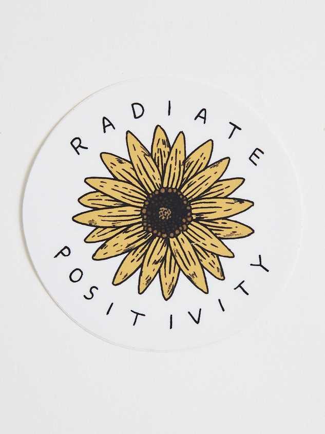 Radiate Positivity Sunflower Sticker - Altar'd State
