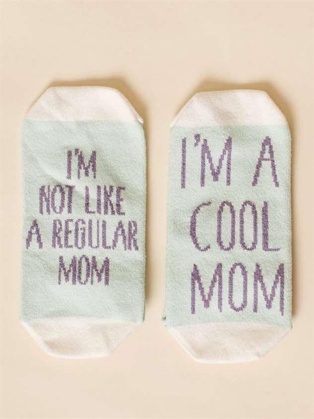 I'm a Cool Mom No-Show Socks - Altar'd State