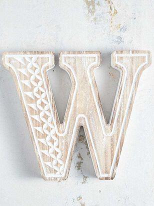 Wooden Monogram Letter Block - W - Altar'd State