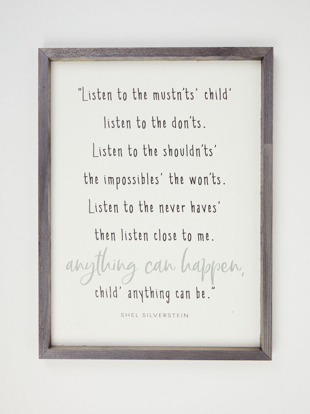 Anything Can Happen Child Wall Art - Altar'd State