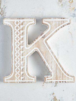 Wooden Monogram Letter Block - K - Altar'd State