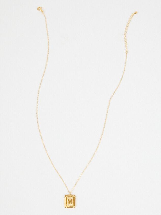 Burst Tag Monogram Necklace - M Detail 3 - Altar'd State