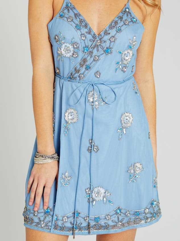 Grace Dress - Light Blue Detail 5 - Altar'd State