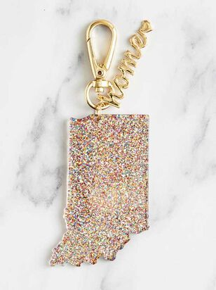 Home Glitter Keychain - Indiana - Altar'd State