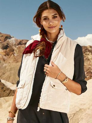 Cord and Wubby Reversible Outerwear Vest - Altar'd State
