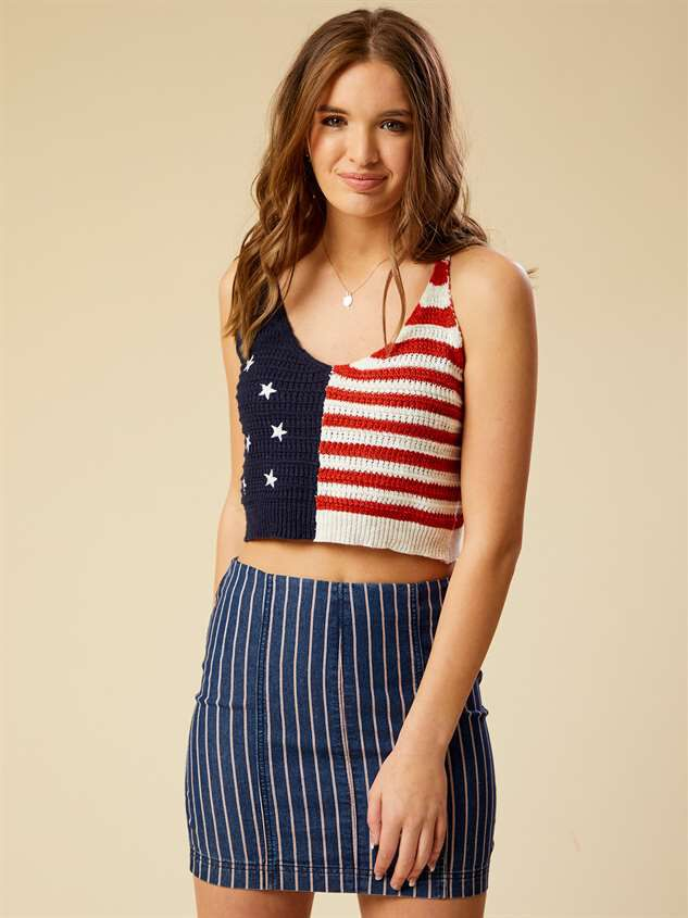 All American Crop Top - Altar'd State