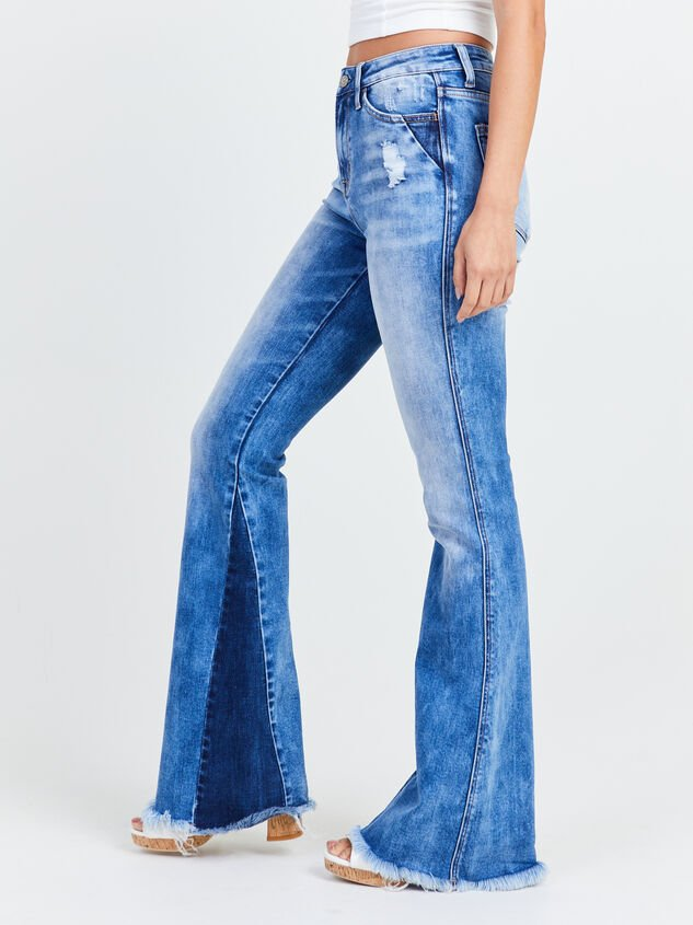 Katy Flare Jeans Detail 3 - Altar'd State