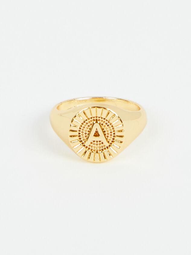 Sunburst Monogram Ring - A - Altar'd State