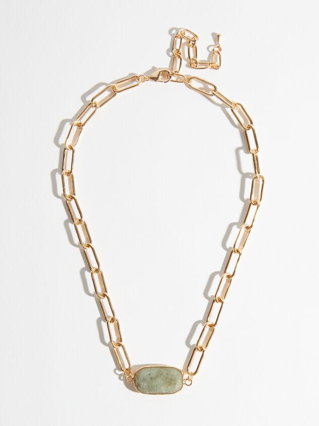 Labradorite Paperclip Necklace Detail 2 - Altar'd State