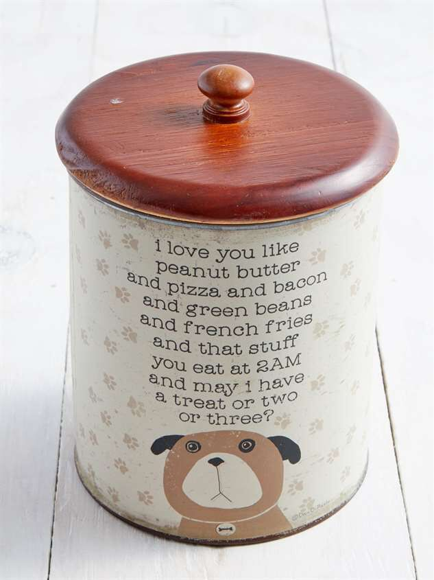 I Love You Like Peanut Butter Dog Treat Jar Detail 2 - Altar'd State