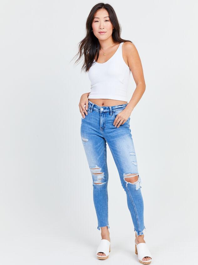 Kaylie Skinny Jeans Detail 5 - Altar'd State