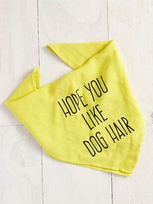 Bear & Ollie's Hope You Like Dog Hair Bandana - Altar'd State
