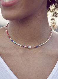 Mixed Bead Pearl Drop Necklace - Altar'd State