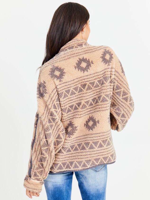 Aztec Full Zip Wubby Pullover Detail 3 - Altar'd State