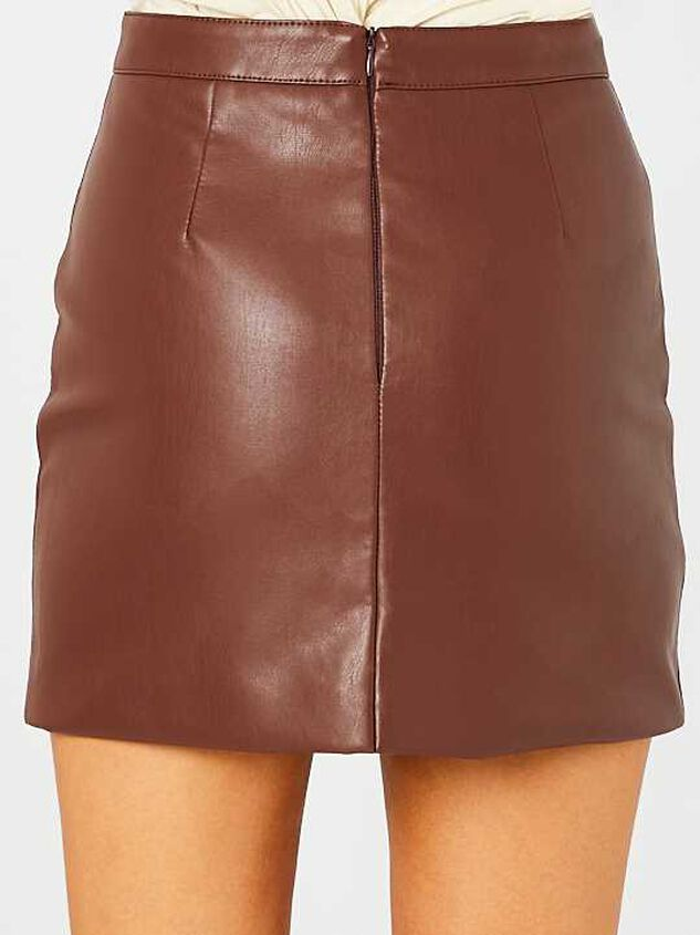 Jane Leather Skirt Detail 4 - Altar'd State
