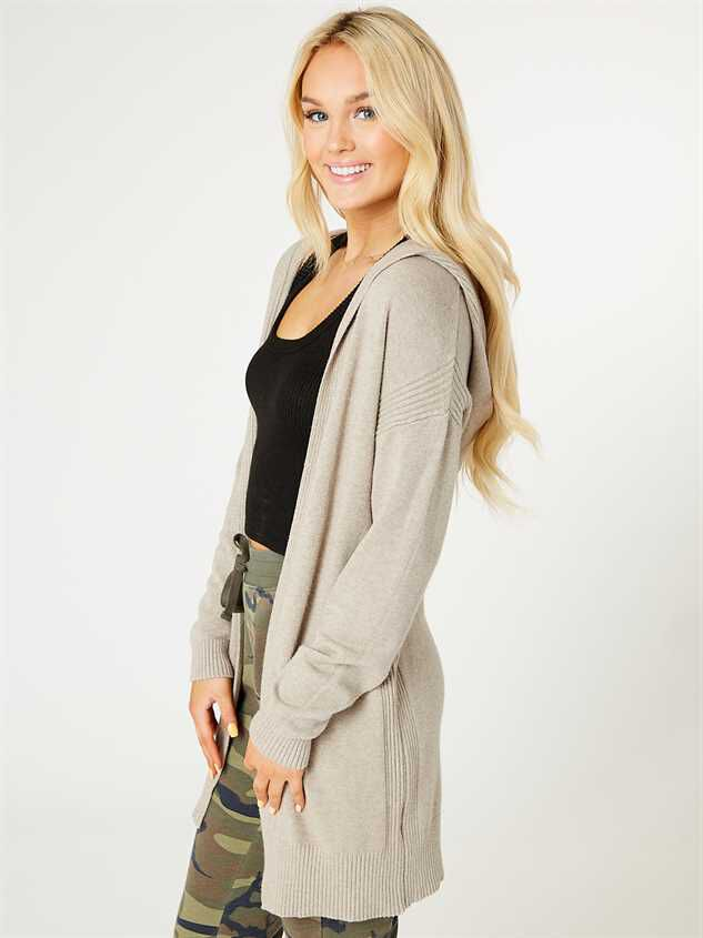 Hooded Lounge Cardigan Detail 2 - Altar'd State